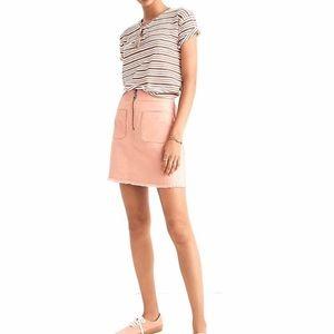NWT Madewell A-Line Zip Skirt Frayed Hem Size 4